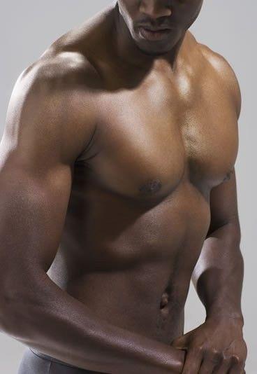 Constructeurs de corps d'hommes nus noirs